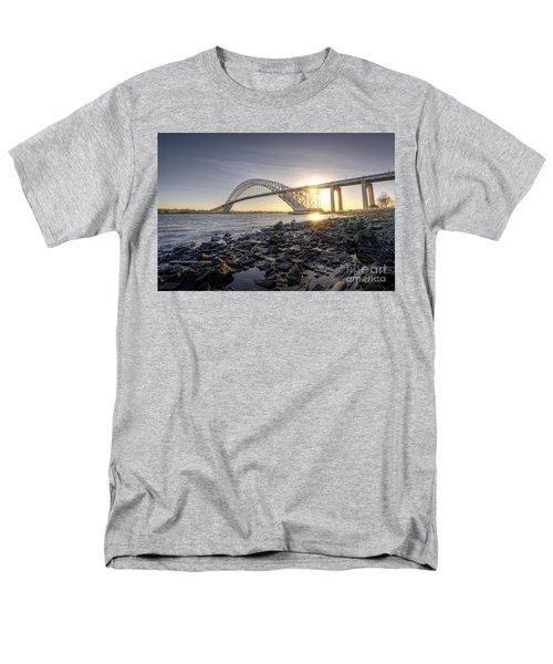 Bayonne Bridge Sunset Men's T-Shirt  (Regular Fit) by Michael Ver Sprill