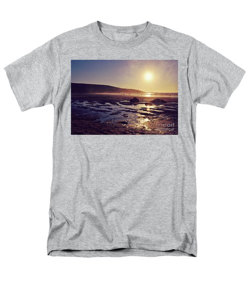 Men's T-Shirt  (Regular Fit) featuring the photograph Beach At Sunset by Lyn Randle