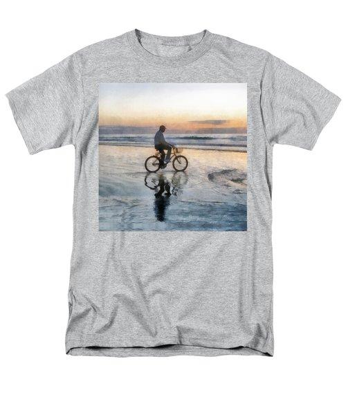 Men's T-Shirt  (Regular Fit) featuring the digital art Beach Biker by Francesa Miller
