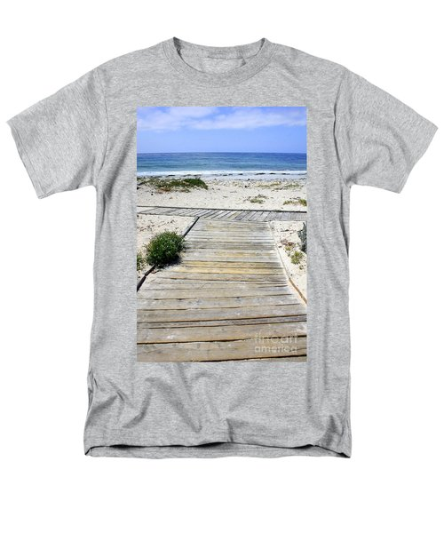 Beach Walk Men's T-Shirt  (Regular Fit)