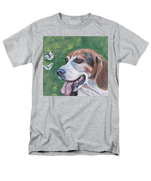 Men's T-Shirt  (Regular Fit) featuring the painting Beagle And Butterflies by Lee Ann Shepard