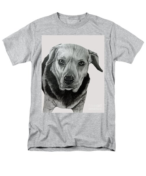 Beagle-shepherd Mix Men's T-Shirt  (Regular Fit) by Terri Mills