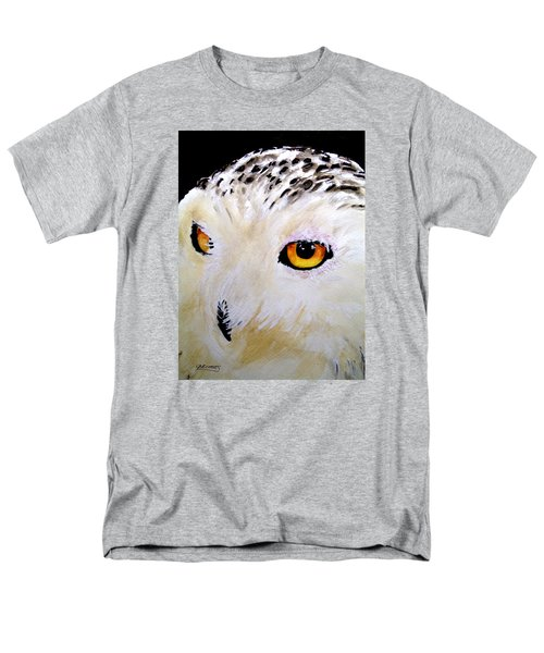 Beautiful Snowy Owl Men's T-Shirt  (Regular Fit) by Carol Grimes