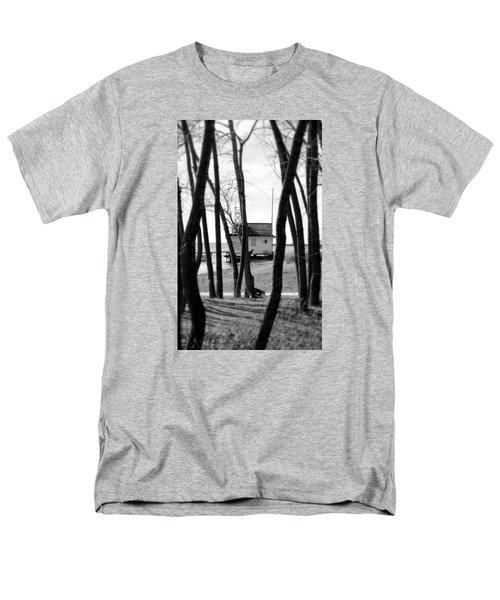 Men's T-Shirt  (Regular Fit) featuring the photograph Behind The Trees by Valentino Visentini
