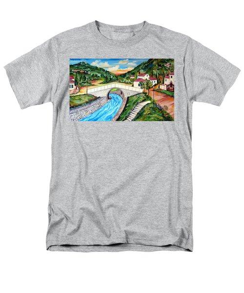 Beli Most Vranje Serbia Men's T-Shirt  (Regular Fit) by Roberto Gagliardi