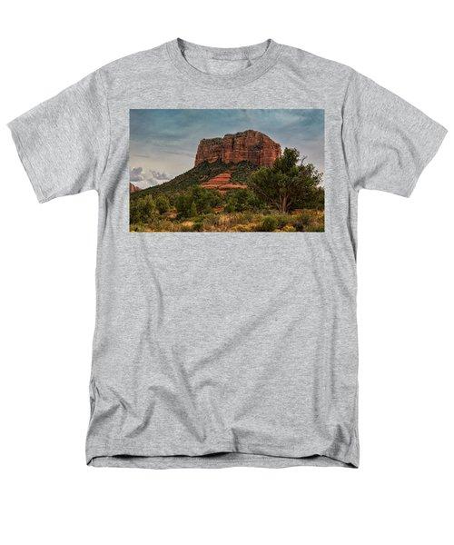 Men's T-Shirt  (Regular Fit) featuring the photograph Courthouse Butte - Sedona  by Saija Lehtonen