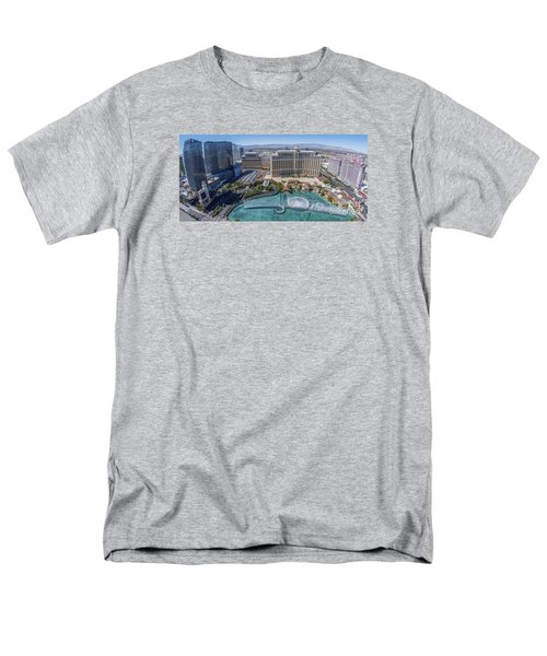 Bellagio Fountains In The Afternoon Men's T-Shirt  (Regular Fit) by Aloha Art