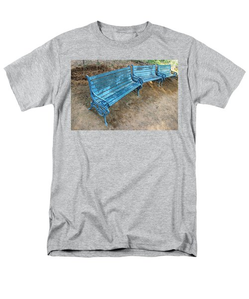 Benches And Blues Men's T-Shirt  (Regular Fit) by Prakash Ghai