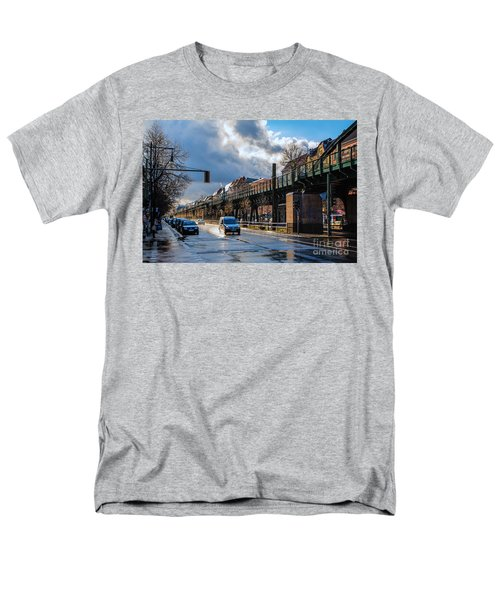 Men's T-Shirt  (Regular Fit) featuring the photograph Berlin Street After Rain by Jivko Nakev