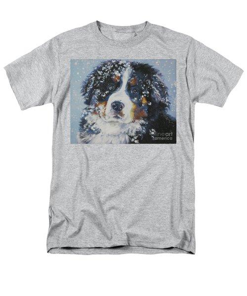 Bernese Mountain Dog Puppy Men's T-Shirt  (Regular Fit) by Lee Ann Shepard