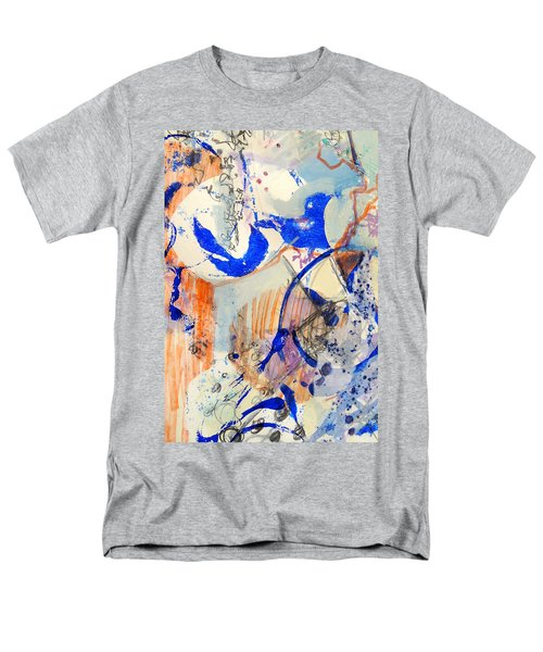 Men's T-Shirt  (Regular Fit) featuring the mixed media Between Branches by Mary Schiros