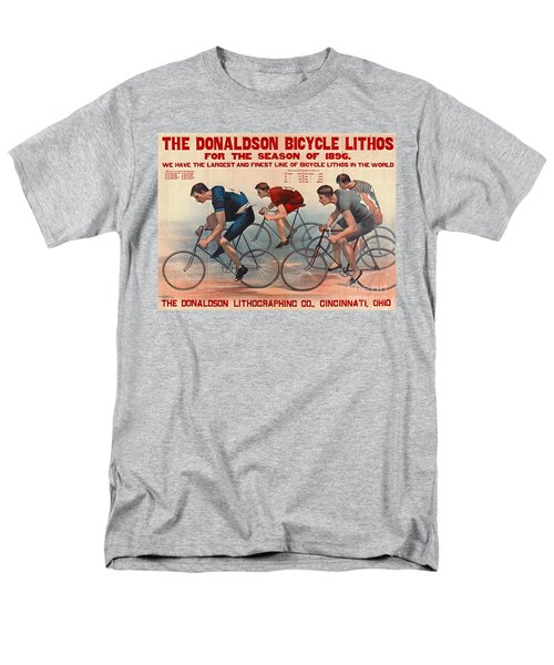 Men's T-Shirt  (Regular Fit) featuring the photograph Bicycle Lithos Ad 1896 by Padre Art