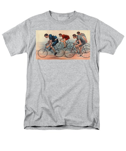 Men's T-Shirt  (Regular Fit) featuring the photograph Bicycle Lithos Ad 1896nt by Padre Art