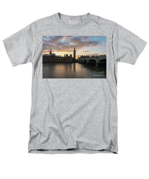 Big Ben London Sunset Men's T-Shirt  (Regular Fit) by Mike Reid