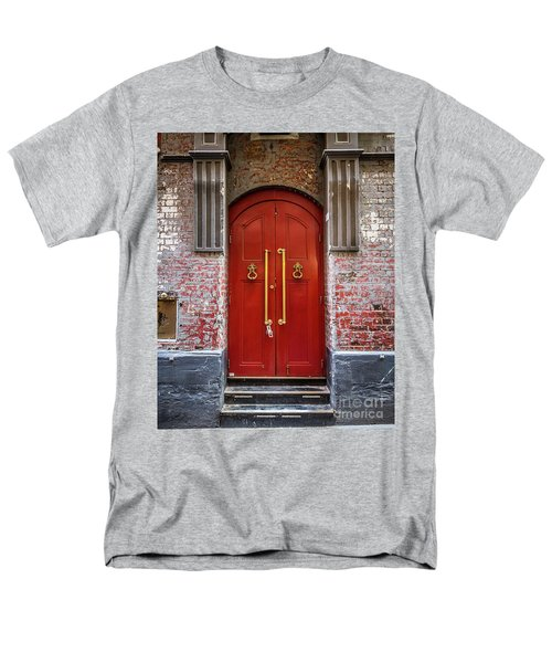 Men's T-Shirt  (Regular Fit) featuring the photograph Big Red Doors by Perry Webster