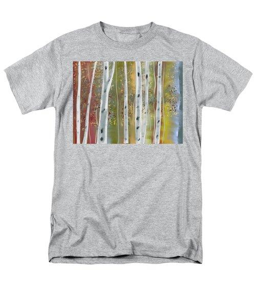 Birch Forest Men's T-Shirt  (Regular Fit) by Paula Brown