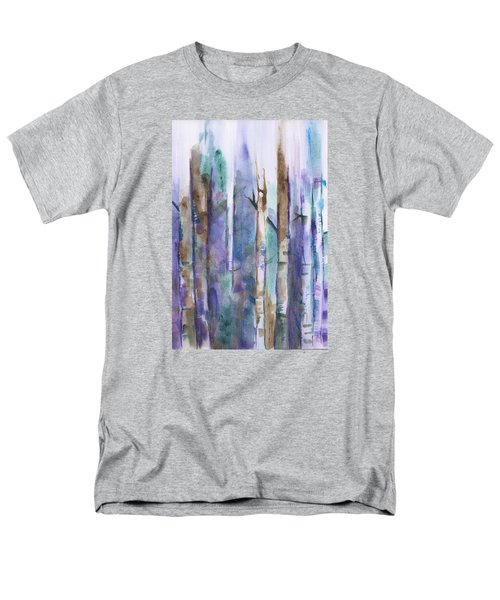 Birch Trees Abstract Men's T-Shirt  (Regular Fit) by Frank Bright