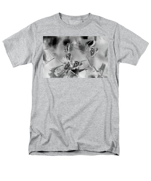 Black And White Monarchs Men's T-Shirt  (Regular Fit) by Deprise Brescia