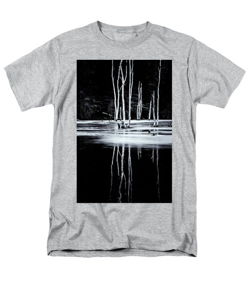 Black And White Winter Thaw Relections Men's T-Shirt  (Regular Fit) by Tom Singleton