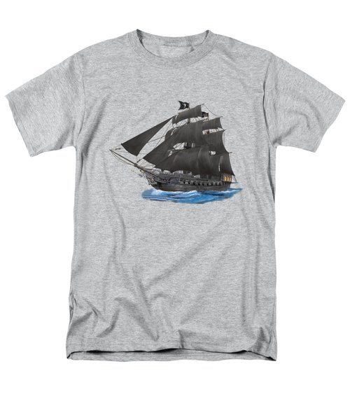 Black Beard's Pirate Ship Men's T-Shirt  (Regular Fit) by Glenn Holbrook