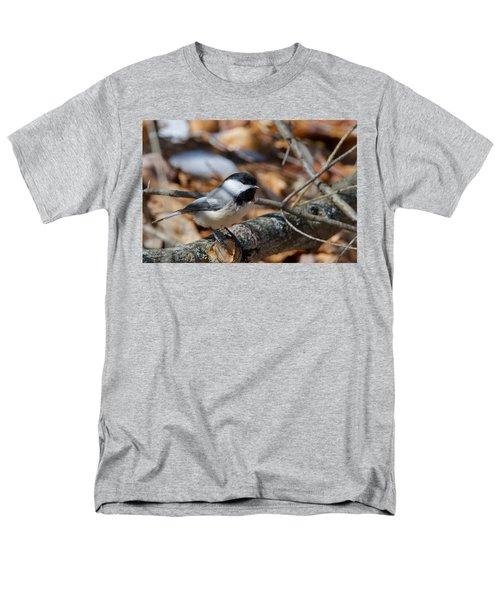 Black-capped Chickadee 0571 Men's T-Shirt  (Regular Fit) by Michael Peychich