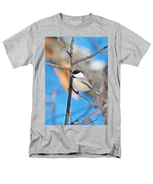 Black Capped Chickadee 1140 Men's T-Shirt  (Regular Fit) by Michael Peychich