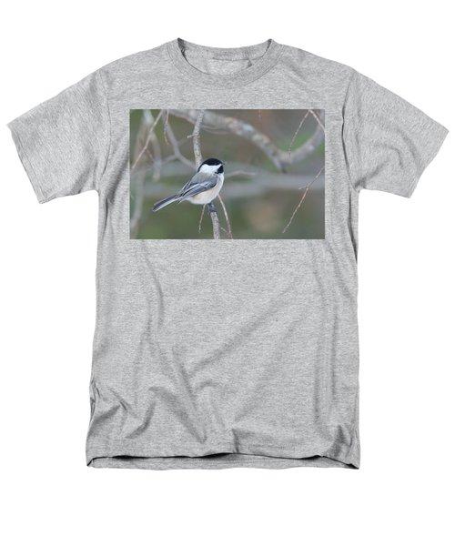 Black Capped Chickadee 1379 Men's T-Shirt  (Regular Fit) by Michael Peychich
