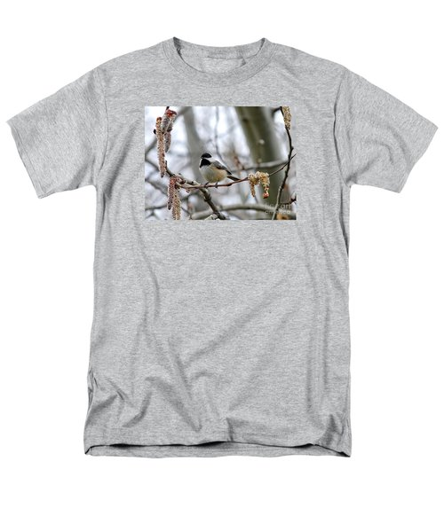Black-capped Chickadee 20120321_39a Men's T-Shirt  (Regular Fit) by Tina Hopkins