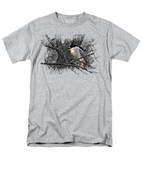 Black Crowned Night Heron 001 Men's T-Shirt  (Regular Fit)