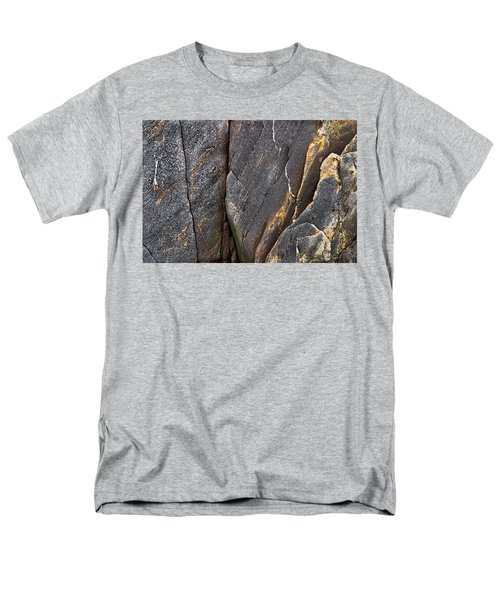 Men's T-Shirt  (Regular Fit) featuring the photograph Black Granite Abstract Two by Peter J Sucy