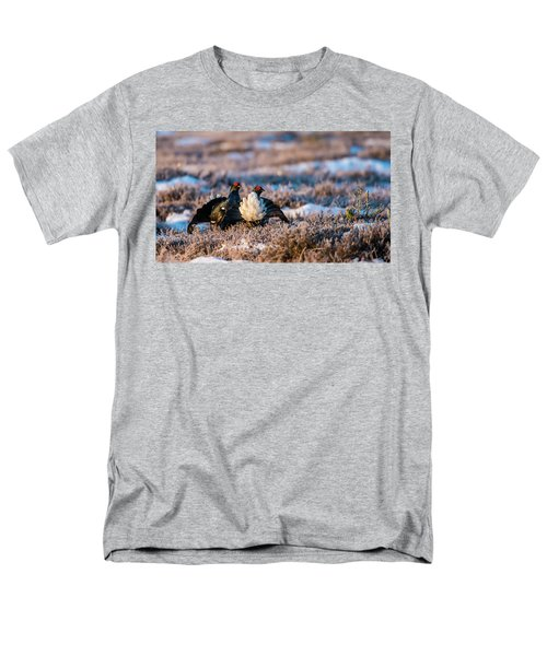 Black Grouses Men's T-Shirt  (Regular Fit) by Torbjorn Swenelius