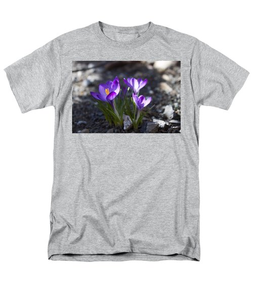 Men's T-Shirt  (Regular Fit) featuring the photograph Blooming Crocus #3 by Jeff Severson