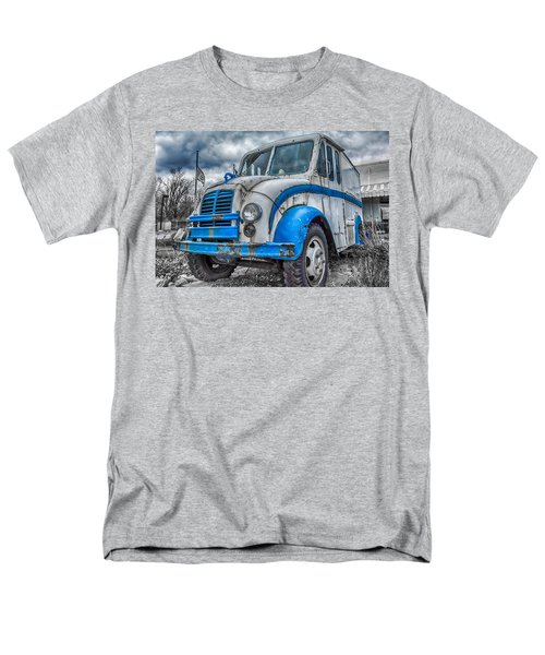 Blue And White Divco Men's T-Shirt  (Regular Fit) by Guy Whiteley