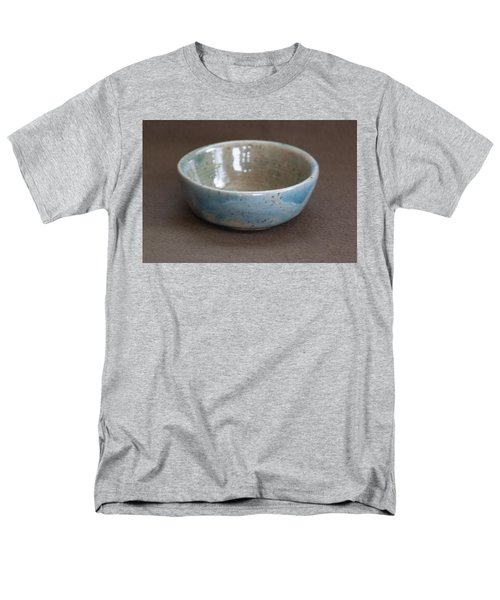 Blue Ceramic Drippy Bowl Men's T-Shirt  (Regular Fit) by Suzanne Gaff