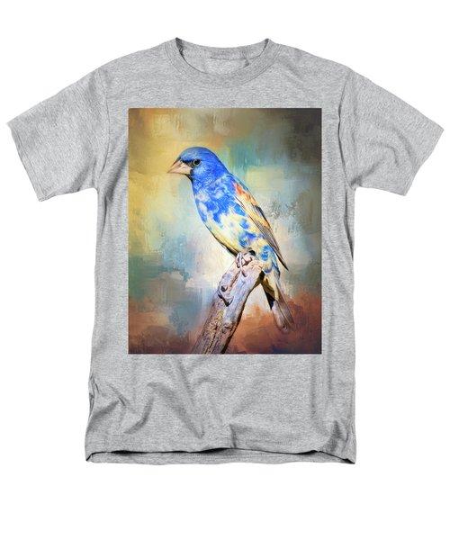 Blue Grosbeak Men's T-Shirt  (Regular Fit)