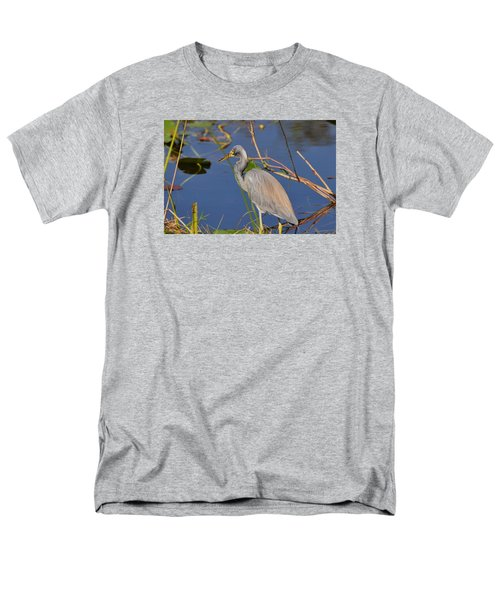 Men's T-Shirt  (Regular Fit) featuring the photograph Blue Heron by Helen Haw