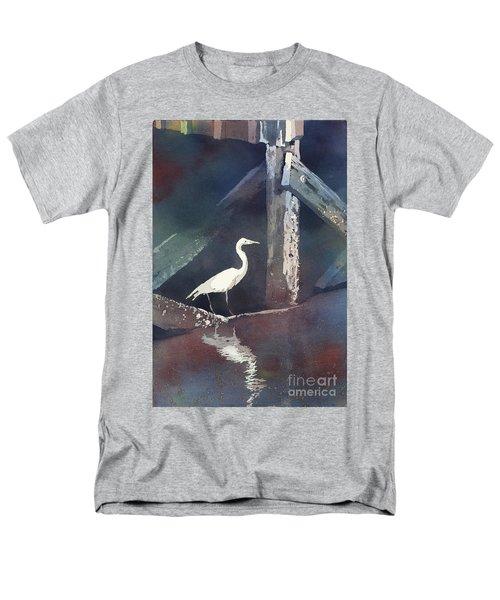 Blue Heron- Outer Banks Men's T-Shirt  (Regular Fit) by Ryan Fox