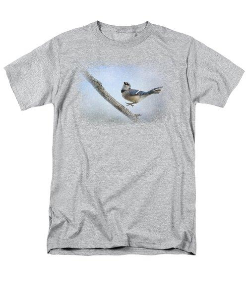 Blue Jay In The Snow Men's T-Shirt  (Regular Fit) by Jai Johnson