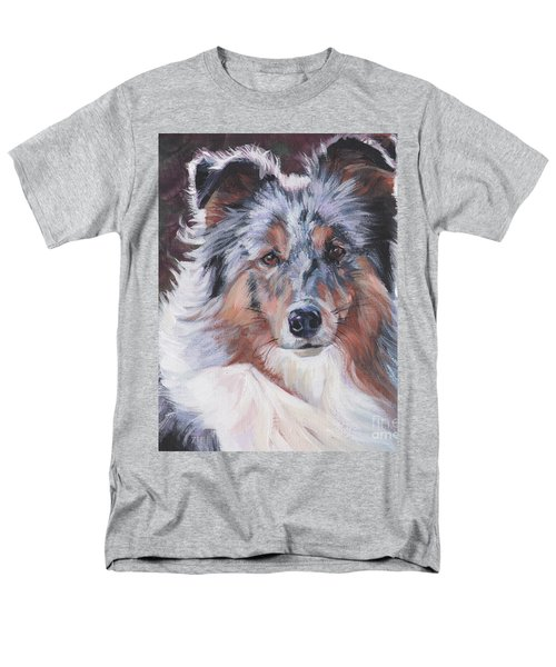 Men's T-Shirt  (Regular Fit) featuring the painting Blue Merle Sheltie by Lee Ann Shepard
