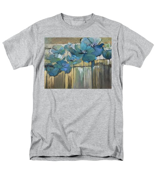 Men's T-Shirt  (Regular Fit) featuring the painting Blue Poppies by Eleatta Diver