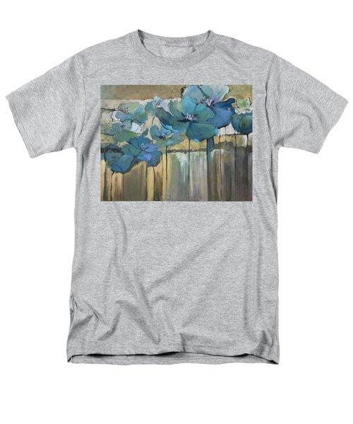 Blue Poppies Men's T-Shirt  (Regular Fit)