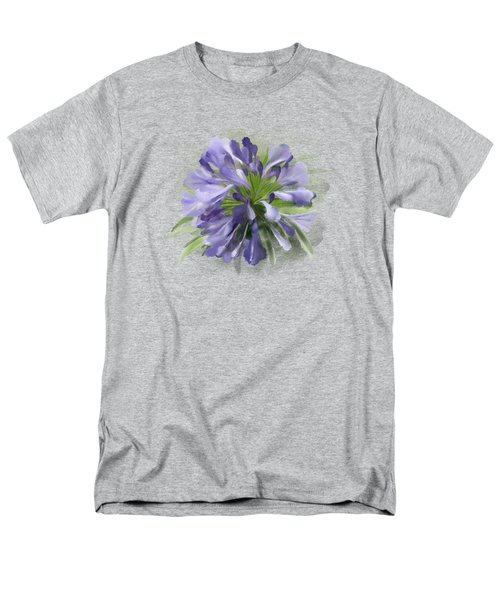 Blue Purple Flowers Men's T-Shirt  (Regular Fit) by Ivana Westin