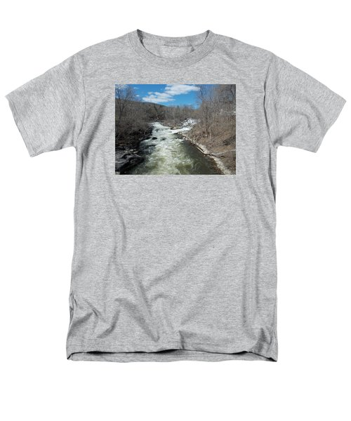 Blue Skies Over The Housatonic River Men's T-Shirt  (Regular Fit) by Catherine Gagne