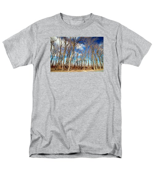 Men's T-Shirt  (Regular Fit) featuring the photograph Blue Sky And Trees by Valentino Visentini