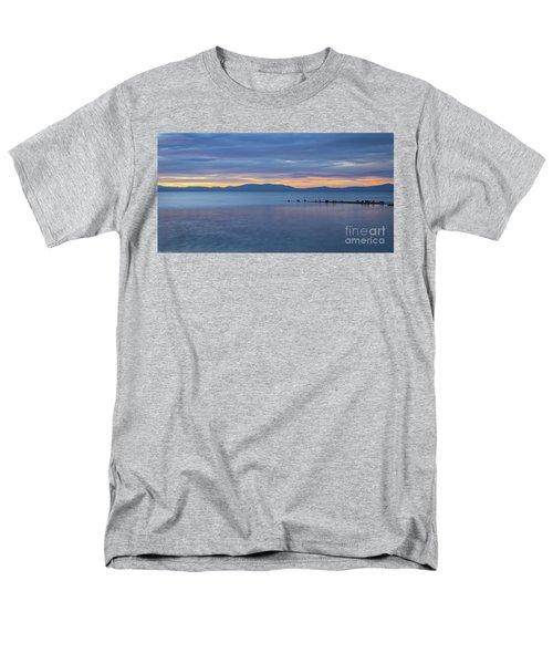 Blue Tahoe Sunset Men's T-Shirt  (Regular Fit) by Mitch Shindelbower