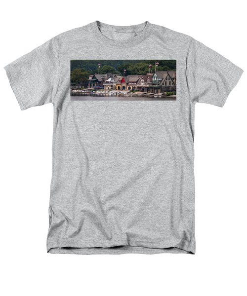 Boathouse Row Philadelphia Pa  Men's T-Shirt  (Regular Fit) by Terry DeLuco