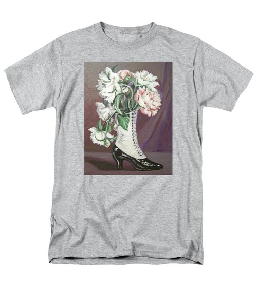 Men's T-Shirt  (Regular Fit) featuring the painting Booted Peonies by Laura Aceto