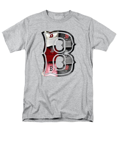 Boston Red Sox B Logo Men's T-Shirt  (Regular Fit) by Joann Vitali