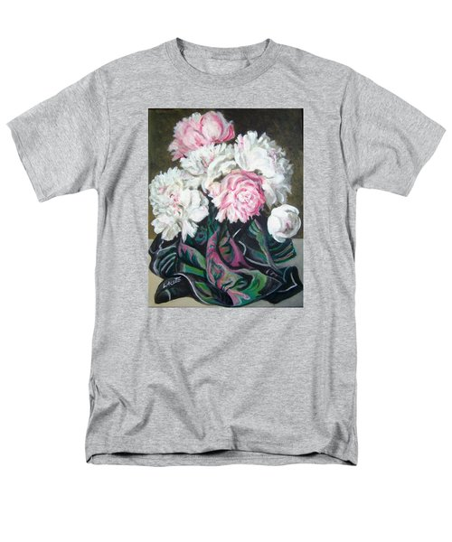 Men's T-Shirt  (Regular Fit) featuring the painting Bouquet Of Peonies by Laura Aceto