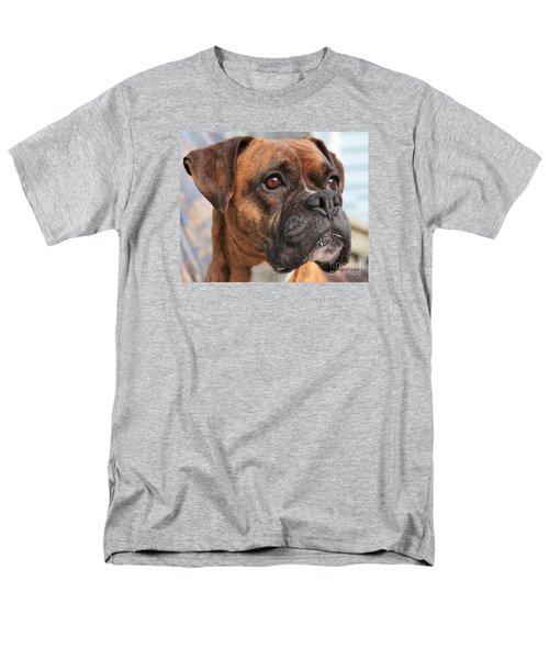 Boxer Portrait Men's T-Shirt  (Regular Fit) by Debbie Stahre